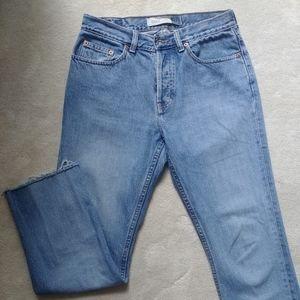 Vintage GAP bootleg jeans with raw hem